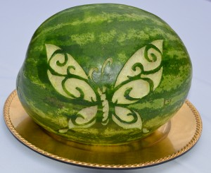 butterfly watermelon carving